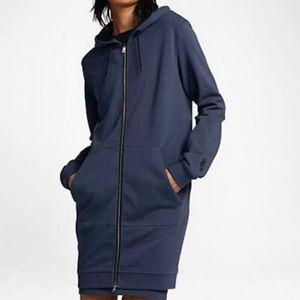 Nike Lab Essentials Mineral Washed Blue Hoodie M